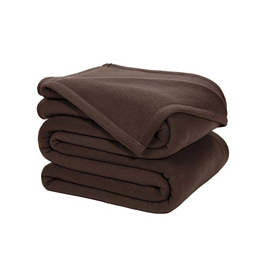 polar-fleece-blankets-brown